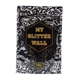Purpurina «My Glitter Wall» para pintura plástica. Ideal para decoración de paredes en interiores y exteriores. 150 g, AB, color plata