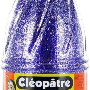 Cleopatre - Pintura con purpurinas plateadas